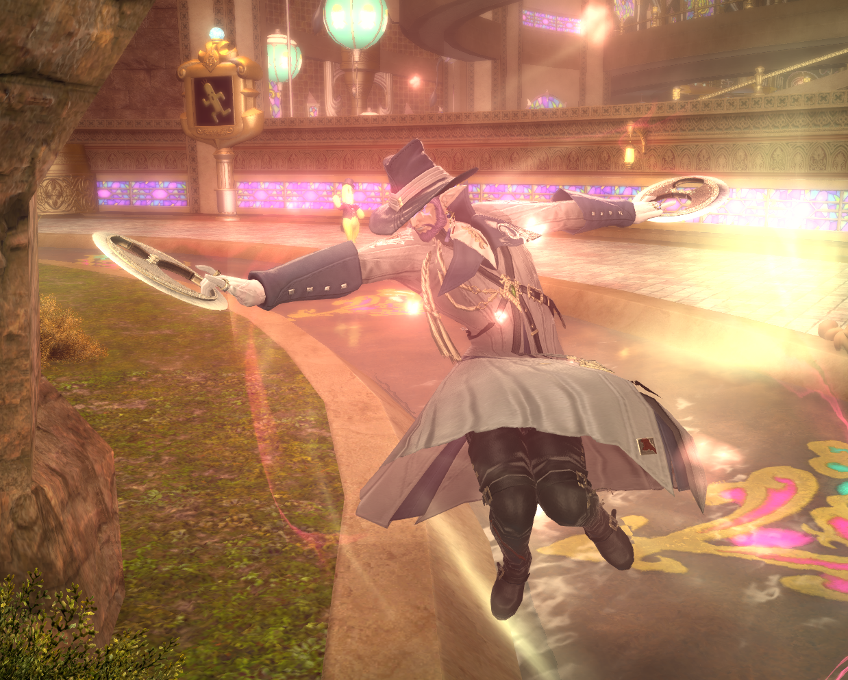Rohiaux in Shire gear, performing the Dancer move Avant