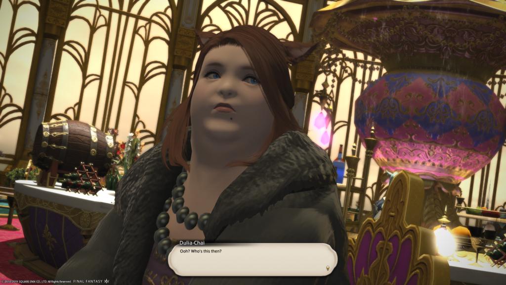 Dulia-Chai, sitting in the bar in Eulmore