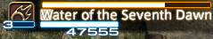 Y'shtola's castbar for Water of the Seventh Dawn