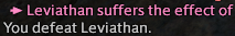 Text from a combat log: You defeat Leviathan